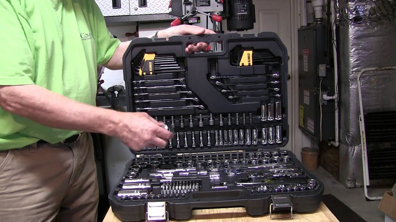 ac9ad6cb171 DeWalt 200-Piece Mechanics Tool Set - YouTube