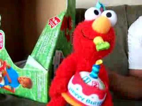 Elmo sings Happy Birthday