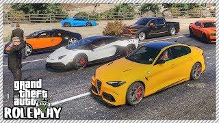 GTA 5 Roleplay - Pink Slip Lamborghini SVJ Drag Race | RedlineRP #245