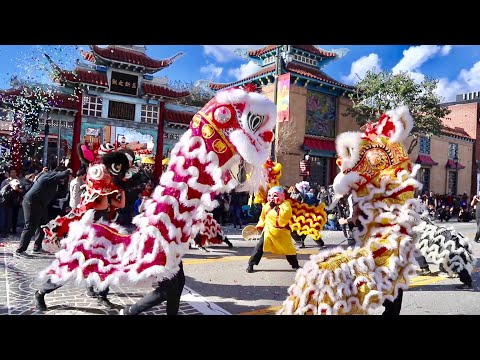 Chinese New Year Festival 2019 in Chinatown Los Angeles - Golden Dragon Parade / Unique Foods & MORE