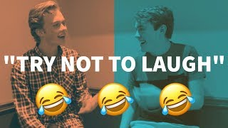 MAKING UP QUOTES *TRY NOT TO LAUGH* | FRIDAY