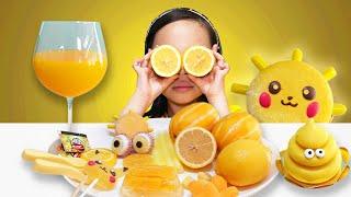 Mukbang Yellow food NIK-L-NIP 노란색 먹방  ALICEWORLD 앨리스월드