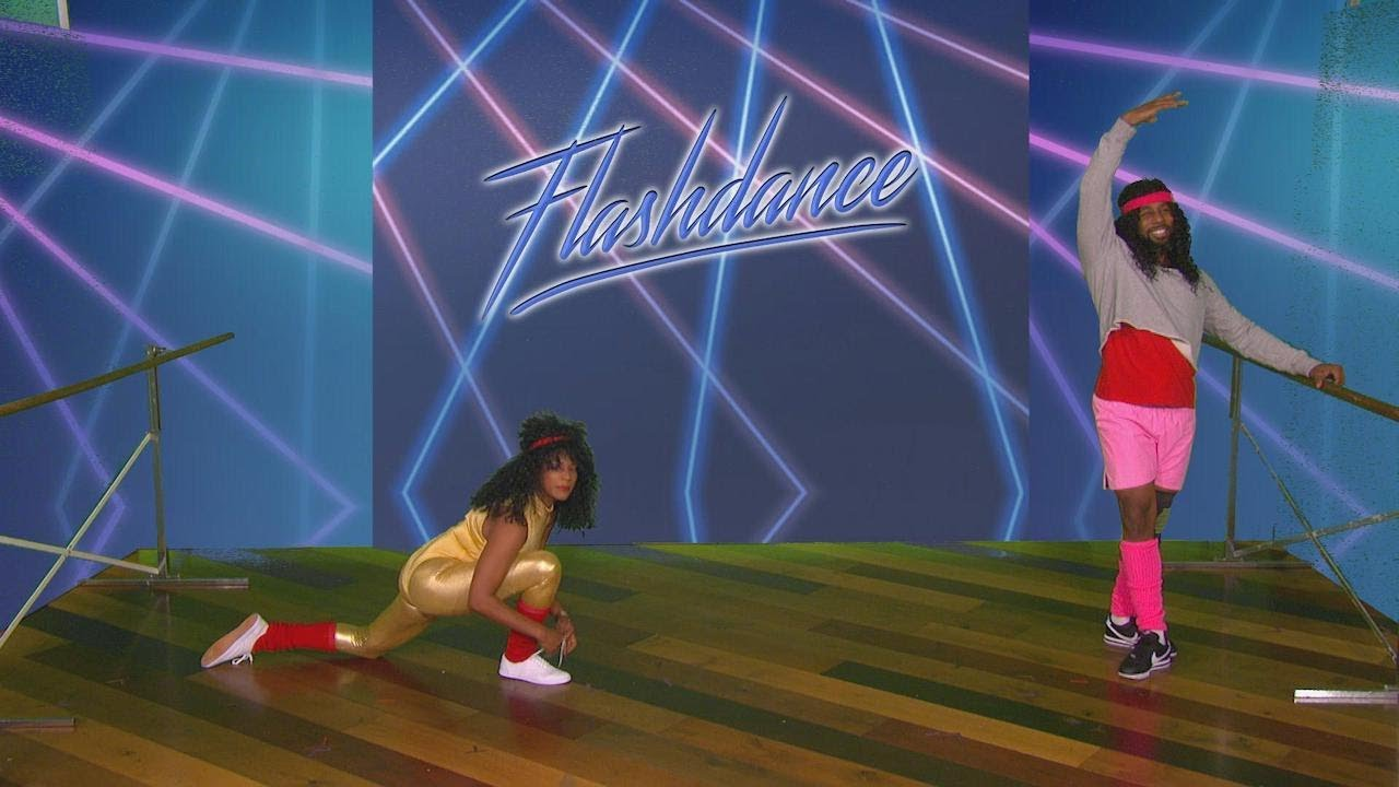 Exclusive Footage of Tiffany Haddish & tWitch's 'Flashdance' Audition