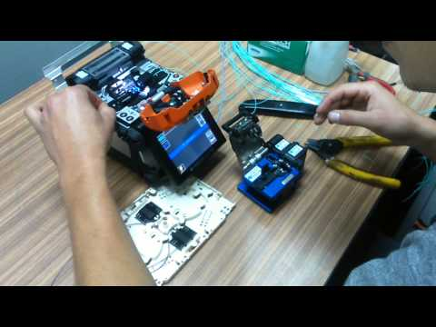 Optical fiber welding- Sumitomo Electric C71 (●̮̮̃•̃) - Spawanie światłowodów HD 1080p