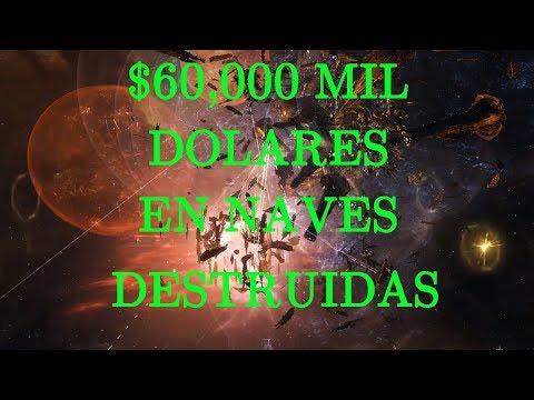 EVE ONLINE $60,000 MIL DOLARES EN NAVES DESTRUIDAS C-LTXS BATTALA SUPERCAPITAL 2018