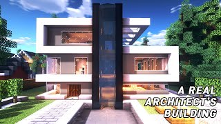 A real architect's building houses in Minecraft tutorial / Modern House #23