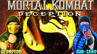 Scorpion & Sub-Zero Play - Mortal Kombat DECEPTION! | MKX GAMEPLAY PARODY!
