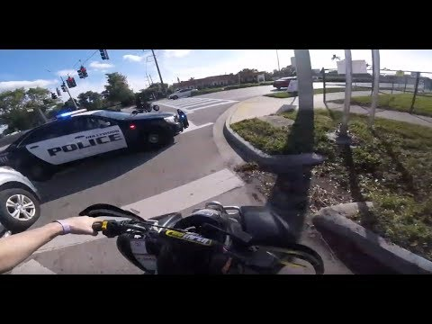 BIKERS VS COPS - Best Dirtbike & Motorcycle Police Chases #24