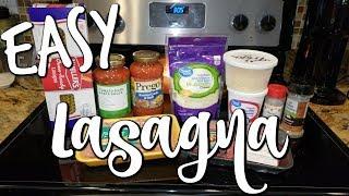 EASY LASAGNA~FOODIE FRIDAYS!