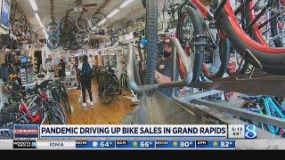 'Busier than ever:' GR bike shops sees increase in sales