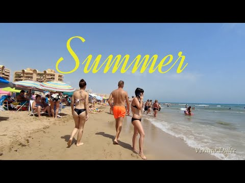 Spain Best Beach Cities, La Mata, Torrevieja , 4K