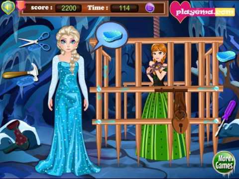 Мультик игра Холодное сердце: Эльза спасает Анну (Elsa Saves Anna)
