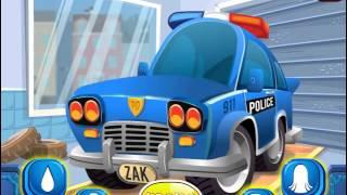 Мультик игра Автомойка: Мыть полицейскую машину (Police Car Wash)