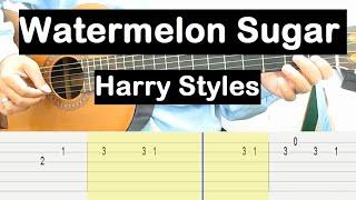 Watermelon Sugar Guitar Tutorial (Harry Styles) Melody Guitar Tab Guitar Lessons for Beginners