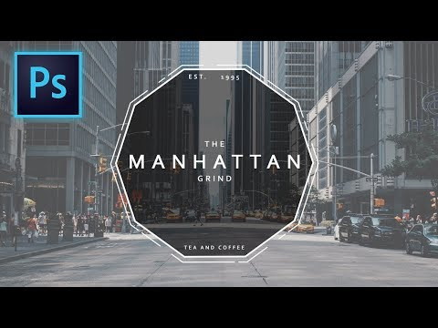 How to Design a Minimalistic AESTHETIC Hipster Logo - Photoshop Tutorial (Easy) thumbnail