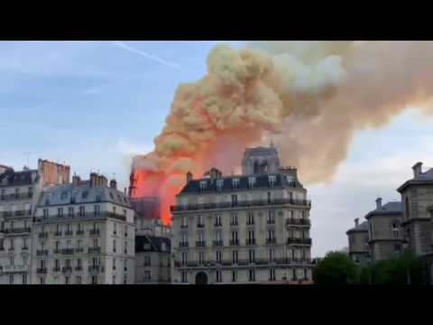 Notre Dame Cathedral in Paris on fire Your Videos on VIRAL CHOP VIDEOS