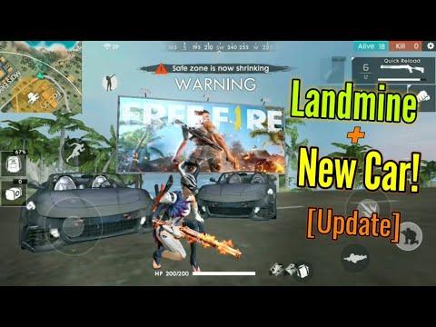 New Update Landmine Sports Car Garena Free Fire Youtube