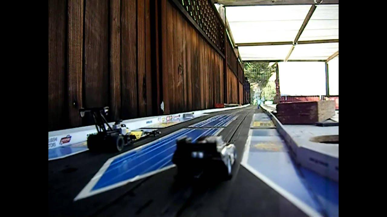 NHRA Drag Racing Slot Car Burn Out Test