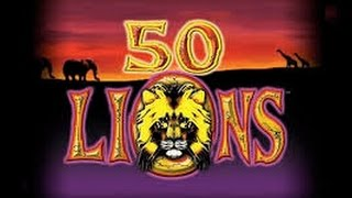 50 Lions Slot * Live Play * DIAMONDS * Big Win !!!