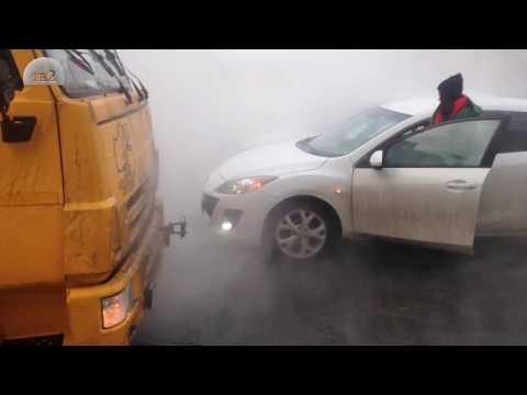 Порыв трубы с горячей водой в Томске
