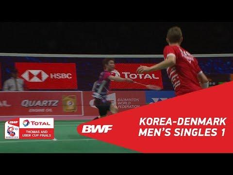 Thomas Cup | MS1 | SON Wan Ho (KOR) Vs Viktor AXELSEN (DEN) | BWF 2018