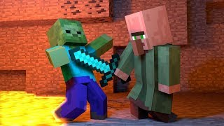 Top 5 Zombie vs Villager Minecraft Life - Minecraft Animation