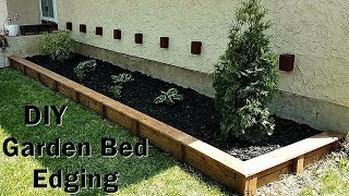 DIY Garden Bed Edging anybody can do