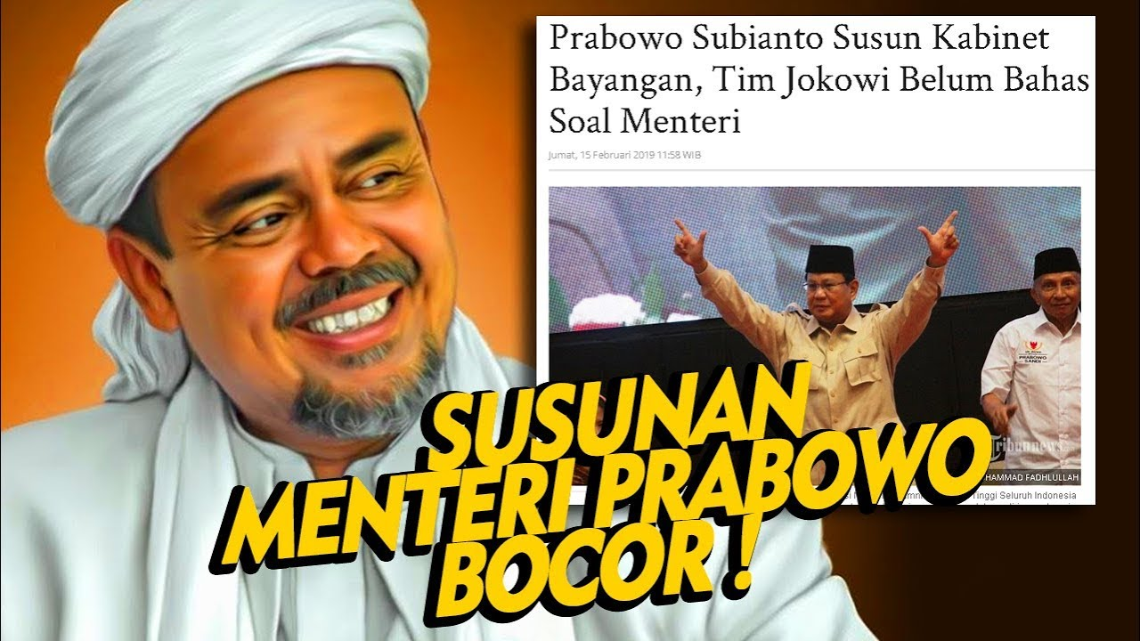 PANIK ! Tersebar Tulisan Tangan Susunan Kabinet Prabowo ,  Bocor Beneran Nih Bro ?