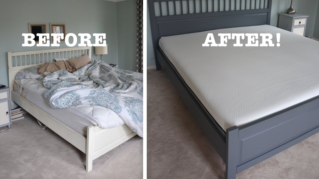 Ikea Super King Mattress An Honest Lull Mattress Review And A Painted Ikea Bed Makeover