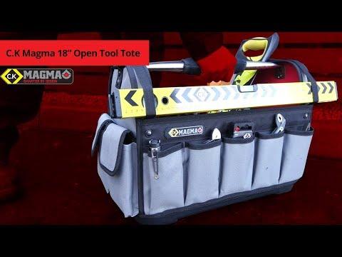 C K Magma 18'' Open Tool Tote HD