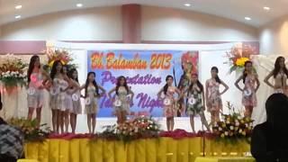 miss balamban 2013 talents night..