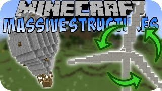 Minecraft BEWEGENDE STRUKTUREN (Windrad, Flugzeug, Freefall Tower) [Deutsch]