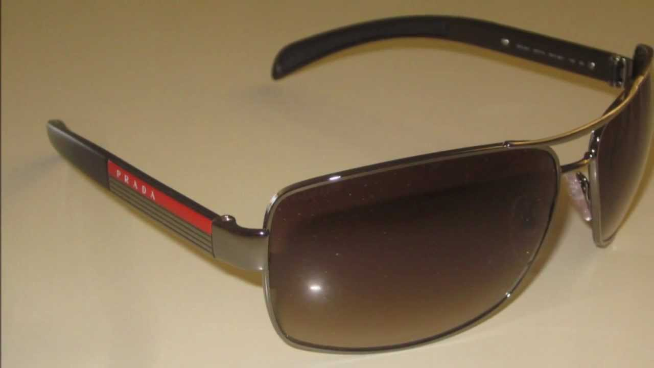 f4946fdcc7a0 Prada SPS 54I 5AV-6S1 Gunmetal Brown Gradient Sunglasses - YouTube