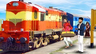 ट्रेन यात्रा Train Yatra हिंदी कहानी Hindi Moral Stories | Panchatantra stories Bedtime Fairy Tales
