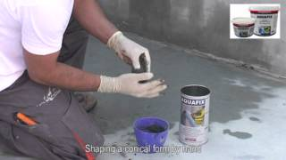 Instant plugging and sealing of water leaks with AQUAFIX by ISOMAT S.A.