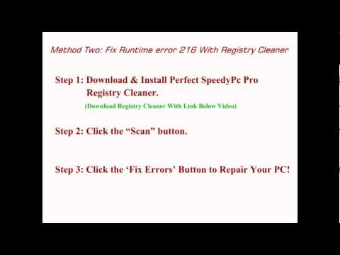 How to Fix Runtime Error 216
