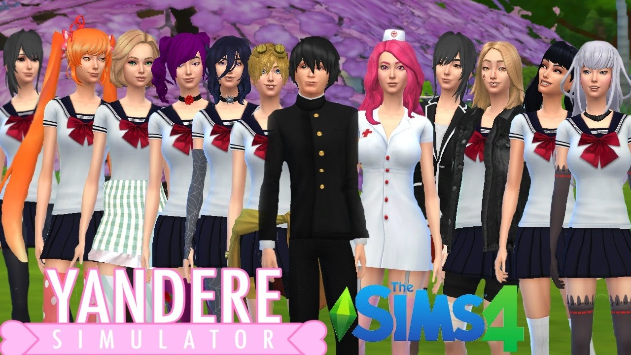 The Sims 4 Yandere Simulator Challenge Ep 1 Create A