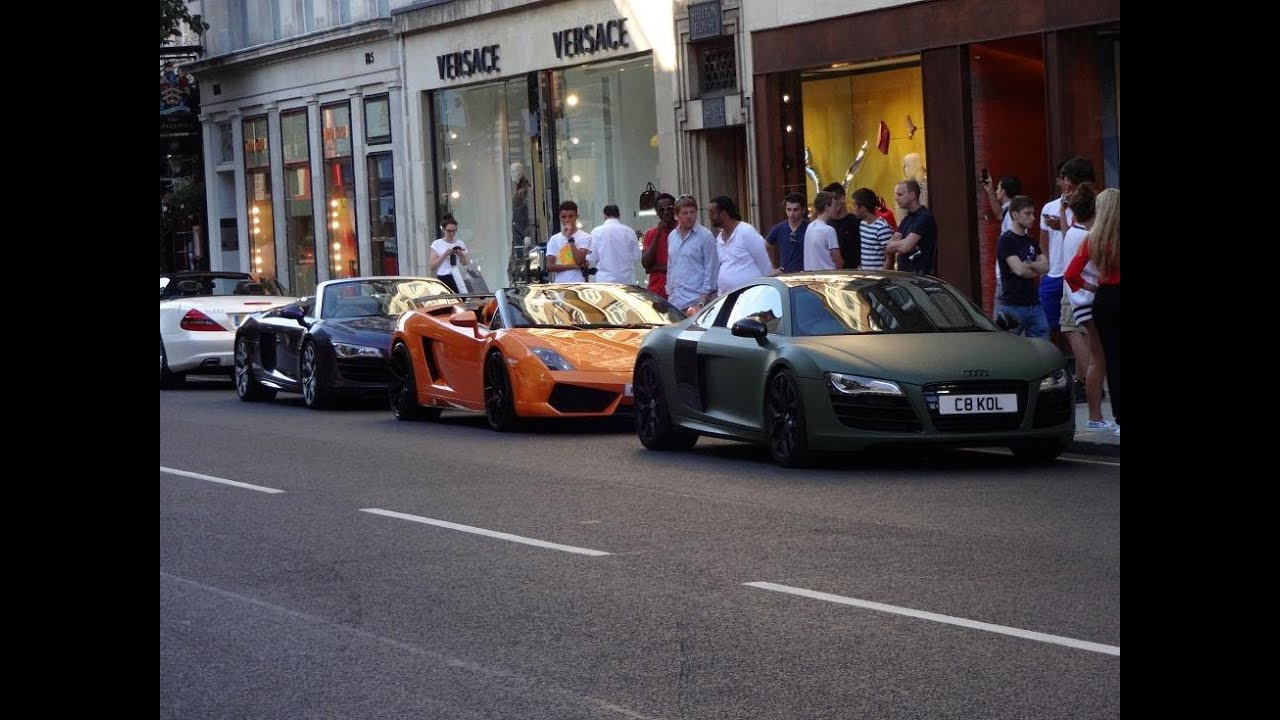 Supercars In London Epic Supercar Show Aventadors White
