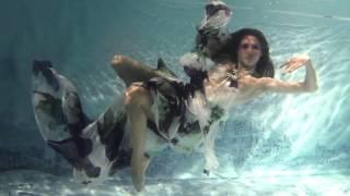 斬新過ぎる! ランウェイの先で水中へ飛び込むファッションショー