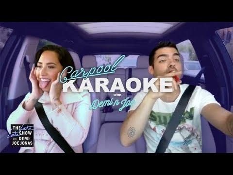 Demi Lovato and Joe Jonas Carpool Karaoke