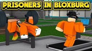 JAILBREAK PRISONERS IN BLOXBURG! (ROBLOX Bloxburg)