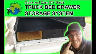 Truck Bed Drawer Storage System Quick and Easy 2019 DIY Guide