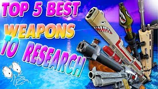 Top 5 Best Weapons To Research In Patch 4.5 | Fortnite Save The World