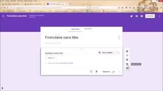 Créer un formulaire Google Tuto 1