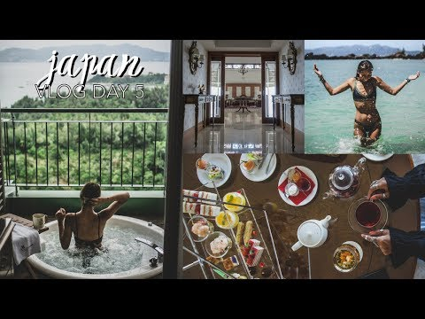 Japan Vlog Day 5 // Okinawa Marriott (Hotel Room Tour, Nago Citizen Beach, Afternoon Tea)