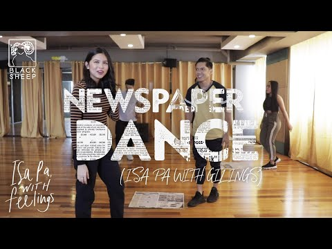 Isa Pa With Gilings (Newspaper Dance) | Carlo Aquino and Maine Mendoza | Isa Pa With Feelings