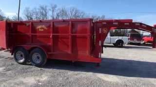Used Dump Trailer Gooseneck 7'x14' Hydraulic 4' Sides 7000lb Axles w/ brakes sle