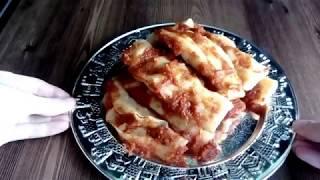 Конвертики с картошкой в соусе. Ханум. #ханум, #мантырецепт