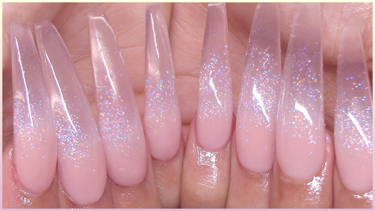 JC Beauty Concepts Review & GIVEAWAY!! | Clear Holo Glitter Glass Acrylic Nails TUT