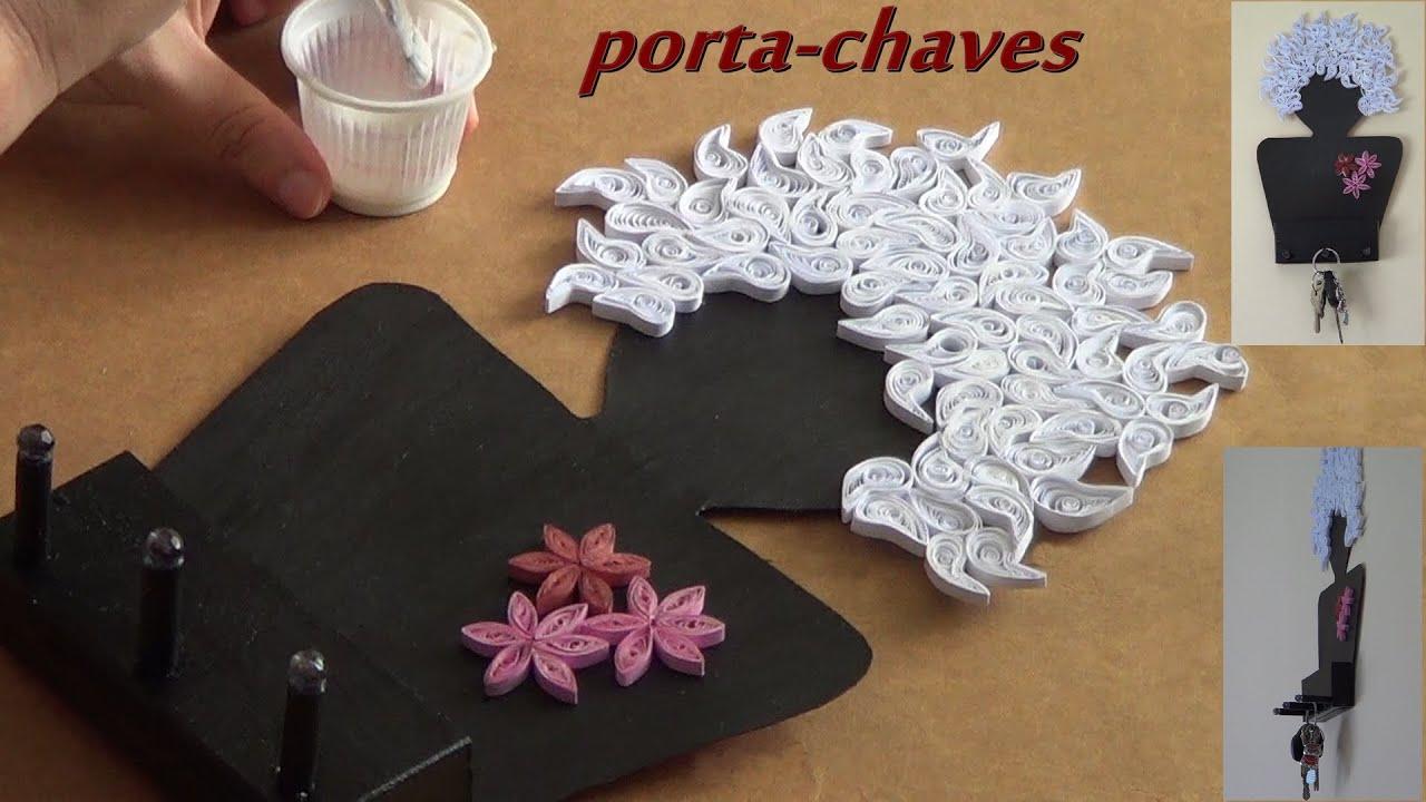 Artesanato Baiano ~ Artesanato Porta chaves de papel u00e3o e papel YouTube